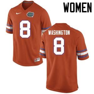 Women Florida Gators #8 Nick Washington College Football Jerseys Orange 940162-703