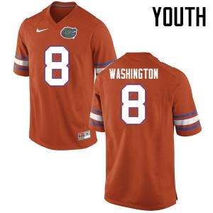 Youth Florida Gators #8 Nick Washington College Football Jerseys Orange 836433-719