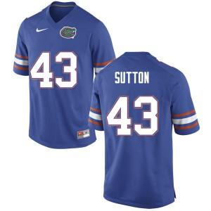 Men #43 Nicolas Sutton Florida Gators College Football Jerseys Blue 835727-780