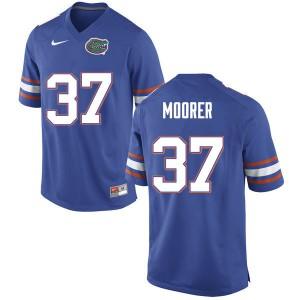 Men #37 Patrick Moorer Florida Gators College Football Jerseys Blue 459619-694