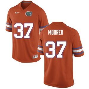 Men #37 Patrick Moorer Florida Gators College Football Jerseys Orange 350698-713
