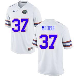 Men #37 Patrick Moorer Florida Gators College Football Jerseys White 954581-351