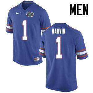 Men Florida Gators #1 Percy Harvin College Football Jerseys Blue 547387-213