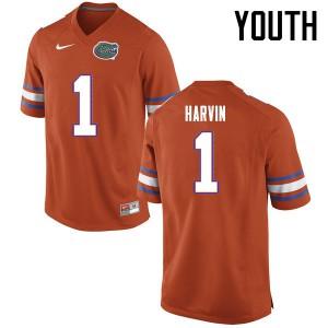 Youth Florida Gators #1 Percy Harvin College Football Jerseys Orange 328375-974