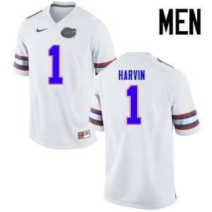 Men Florida Gators #1 Percy Harvin College Football Jerseys White 544685-457