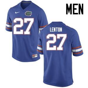 Men Florida Gators #27 Quincy Lenton College Football Jerseys Blue 566154-739