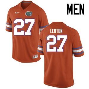 Men Florida Gators #27 Quincy Lenton College Football Jerseys Orange 846769-511