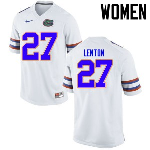 Women Florida Gators #27 Quincy Lenton College Football Jerseys White 858314-553