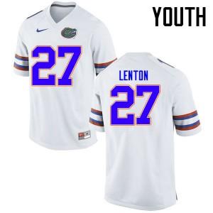 Youth Florida Gators #27 Quincy Lenton College Football Jerseys White 333146-112