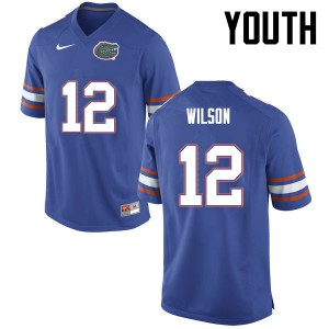 Youth Florida Gators #12 Quincy Wilson College Football Blue 323289-584