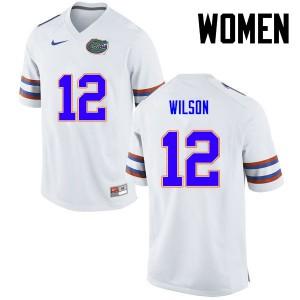 Women Florida Gators #12 Quincy Wilson College Football White 132406-599