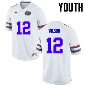 Youth Florida Gators #12 Quincy Wilson College Football White 358927-697