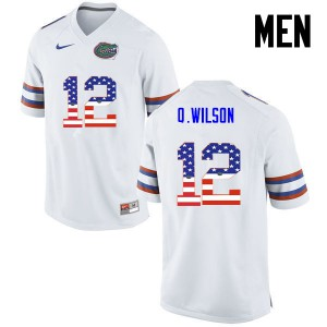 Men Florida Gators #12 Quincy Wilson College Football USA Flag Fashion White 585505-959