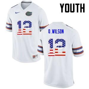 Youth Florida Gators #12 Quincy Wilson College Football USA Flag Fashion White 416086-287