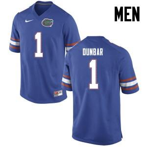 Men Florida Gators #1 Quinton Dunbar College Football Blue 697244-120