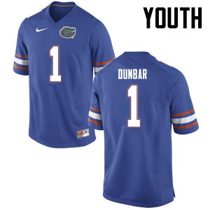 Youth Florida Gators #1 Quinton Dunbar College Football Blue 468110-563
