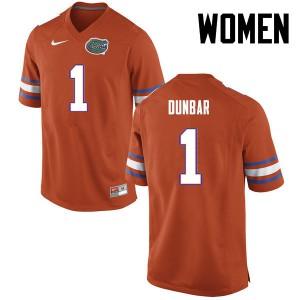 Women Florida Gators #1 Quinton Dunbar College Football Orange 311109-961