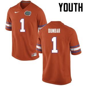 Youth Florida Gators #1 Quinton Dunbar College Football Orange 261375-825