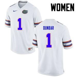 Women Florida Gators #1 Quinton Dunbar College Football White 169631-210
