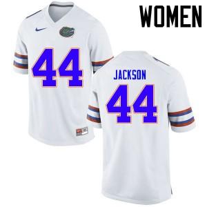 Women Florida Gators #44 Rayshad Jackson College Football Jerseys White 685696-731