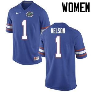 Women Florida Gators #1 Reggie Nelson College Football Jerseys Blue 632731-535