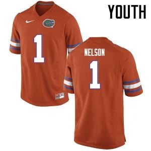 Youth Florida Gators #1 Reggie Nelson College Football Jerseys Orange 465592-184