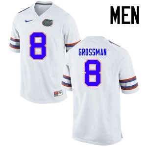 Men Florida Gators #8 Rex Grossman College Football Jerseys White 827440-483