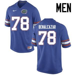Men Florida Gators #78 Ricardo Benalcazar College Football Jerseys Blue 948037-995