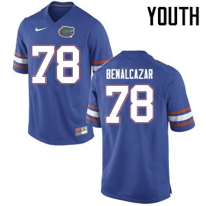 Youth Florida Gators #78 Ricardo Benalcazar College Football Jerseys Blue 489200-130