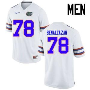 Men Florida Gators #78 Ricardo Benalcazar College Football Jerseys White 459351-132