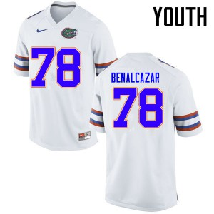 Youth Florida Gators #78 Ricardo Benalcazar College Football Jerseys White 431808-686