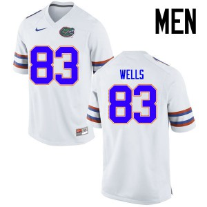 Men Florida Gators #83 Rick Wells College Football Jerseys White 168524-473