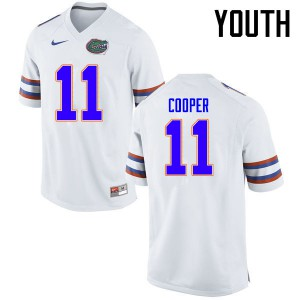 Youth Florida Gators #11 Riley Cooper College Football Jerseys White 905825-474