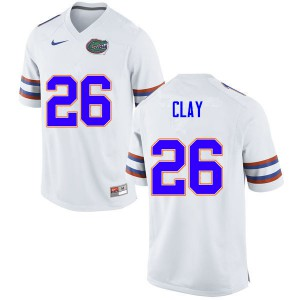 Men #26 Robert Clay Florida Gators College Football Jerseys White 721601-666