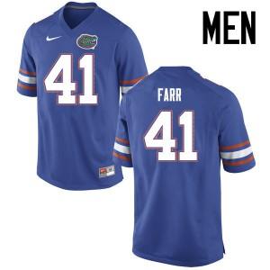 Men Florida Gators #41 Ryan Farr College Football Jerseys Blue 512610-649