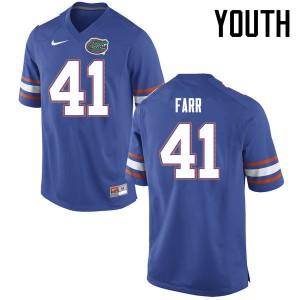 Youth Florida Gators #41 Ryan Farr College Football Jerseys Blue 323521-890