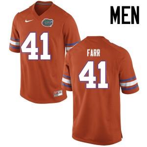 Men Florida Gators #41 Ryan Farr College Football Jerseys Orange 619978-904