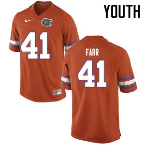 Youth Florida Gators #41 Ryan Farr College Football Jerseys Orange 216765-461