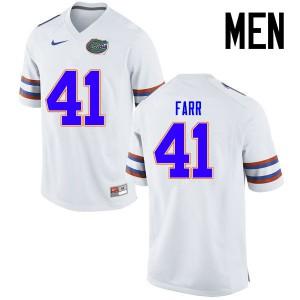 Men Florida Gators #41 Ryan Farr College Football Jerseys White 536702-204
