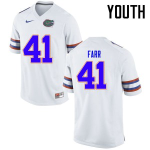 Youth Florida Gators #41 Ryan Farr College Football Jerseys White 898953-583