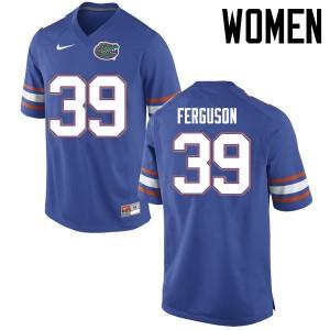 Women Florida Gators #39 Ryan Ferguson College Football Jerseys Blue 612110-734