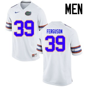 Men Florida Gators #39 Ryan Ferguson College Football Jerseys White 702068-866