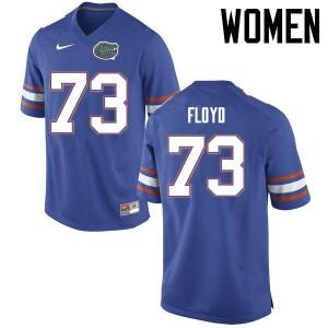 Women Florida Gators #73 Sharrif Floyd College Football Jerseys Blue 892192-352