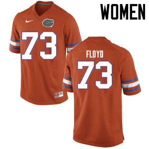 Women Florida Gators #73 Sharrif Floyd College Football Jerseys Orange 903326-689