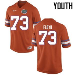 Youth Florida Gators #73 Sharrif Floyd College Football Jerseys Orange 946260-576