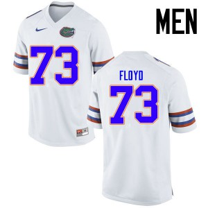 Men Florida Gators #73 Sharrif Floyd College Football Jerseys White 291168-382