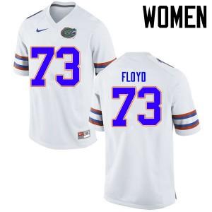 Women Florida Gators #73 Sharrif Floyd College Football Jerseys White 235121-723