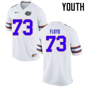 Youth Florida Gators #73 Sharrif Floyd College Football Jerseys White 206995-292