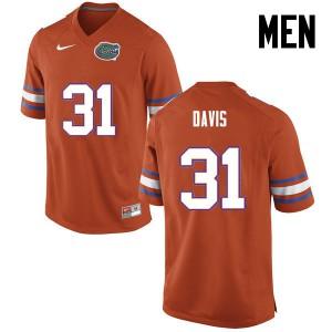 Men Florida Gators #31 Shawn Davis College Football Orange 313970-116