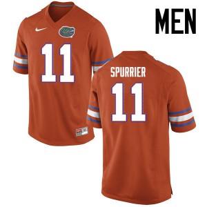 Men Florida Gators #11 Steve Spurrier College Football Jerseys Orange 736246-353